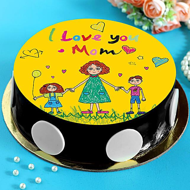 I Love You Mom Chocolate Cake