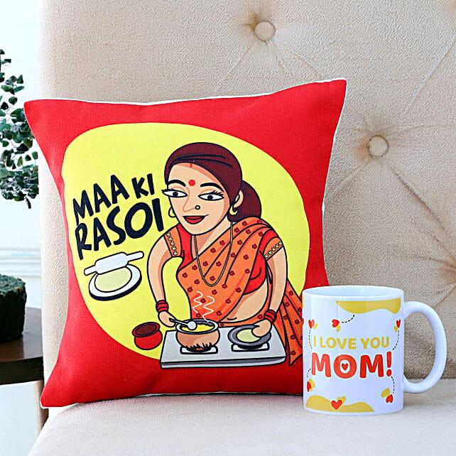 I Love You Mom Cushion And Mug Combo Hand Delivery