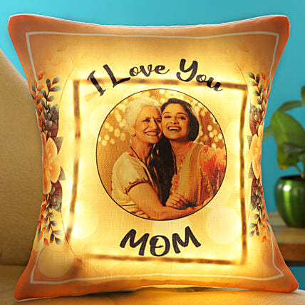 I Love You Mom Personalised LED Cushion Hand Delivery