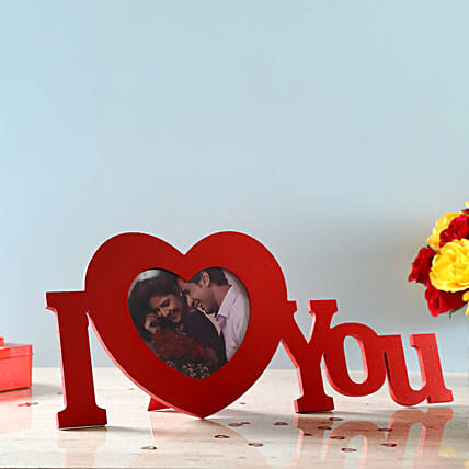 wishing valentine with personalised photo frame