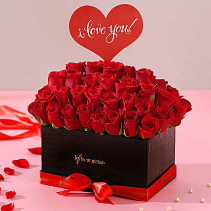 Red Roses Box Online For Her:Send Gifts for Hug Day