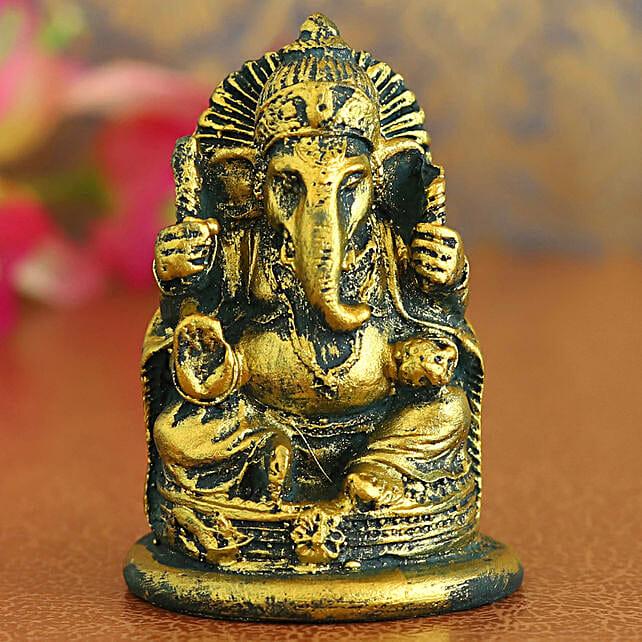 Iconic Red Ganesha Idol