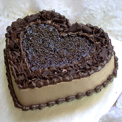 Chocolate Heart Cake for Her