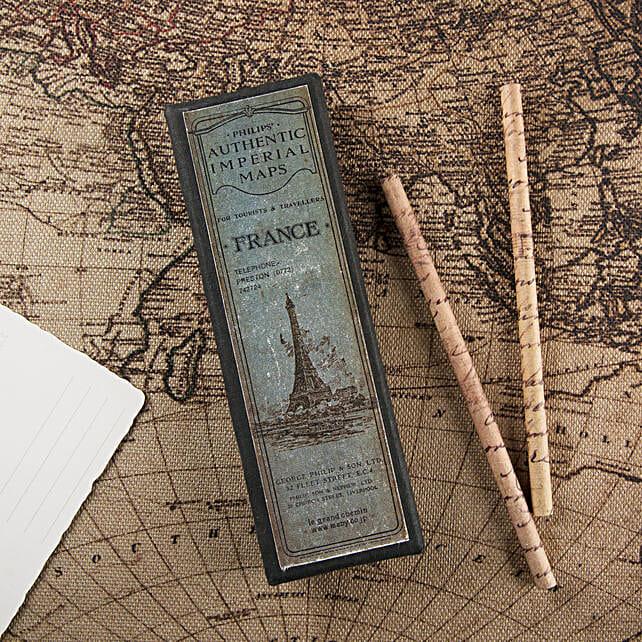 Imperial Maps Pencil Set:Unique Gift Ideas