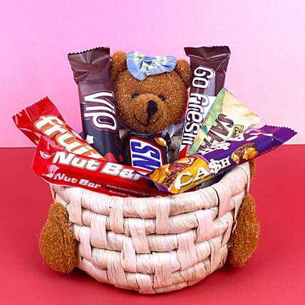 Soft Toy Chocolate Basket:Gift Hampers