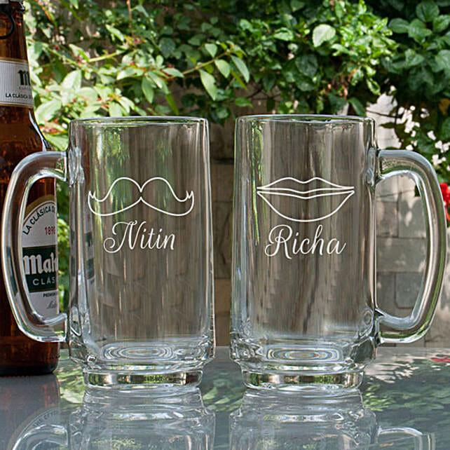 Couple Customised Beer Mug Online