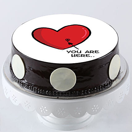 truffle photo cake for valentines day