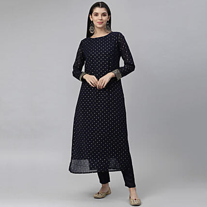 In Vogue Sleeveless A Line Kurta