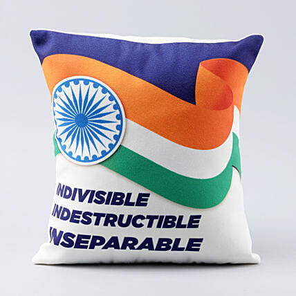 indian tri colour printed cushion