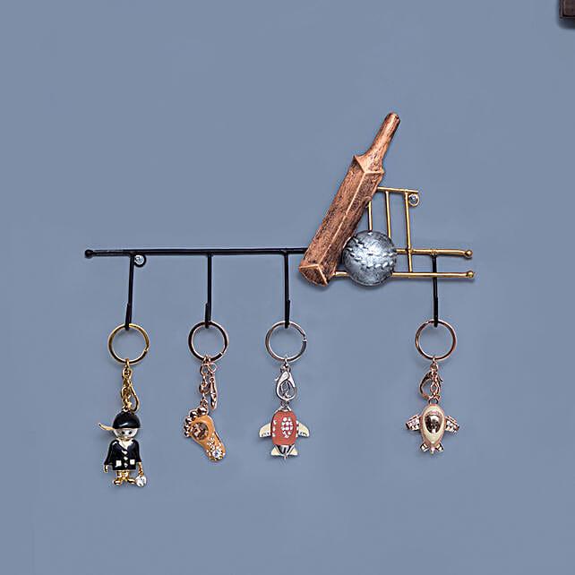 Iron Bat Ball Style Wall Hanging Key Holder:Home Decor Gifts