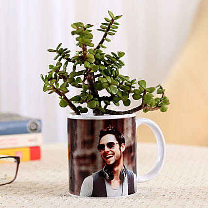 surprising coffee mug with plants