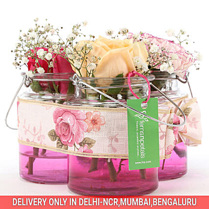 Order Online Jars Of Beautiful Flowers