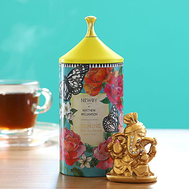 Jasmine Rose Garden Green Tea Pack With Ganesha Idol