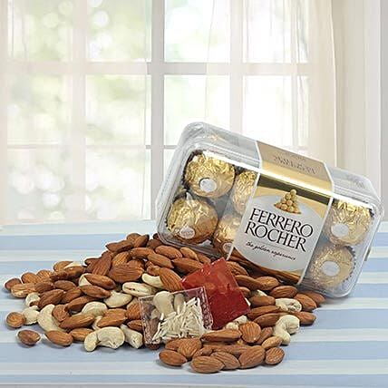Chocolates and dry fruits