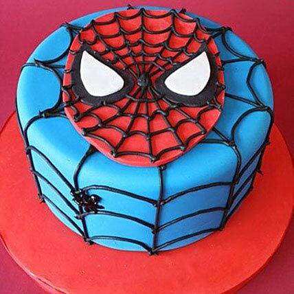 Fondant Spiderman design Cake 1kg