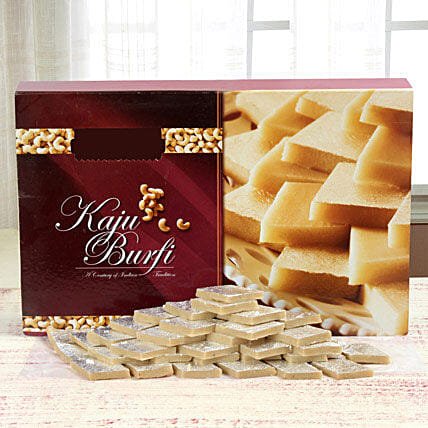 A box of kaju burfi