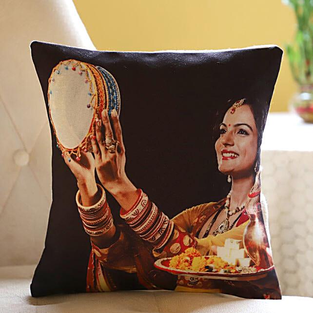 Photo Cushion For Karwa Chauth