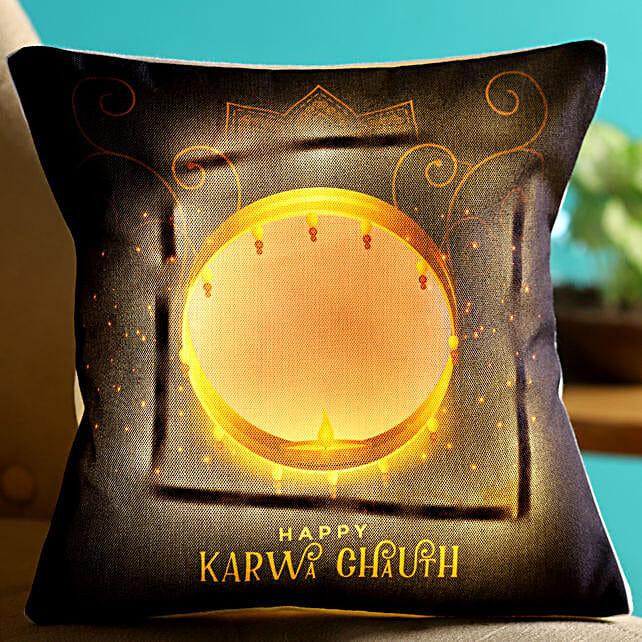 led cushion for karwa chauth