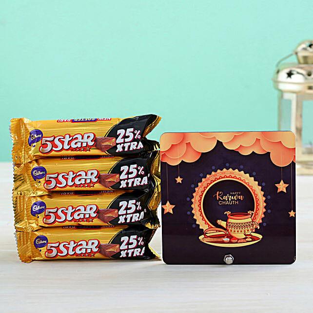 Stars Table Top & 4 Cadbury 5 Star Chocolates