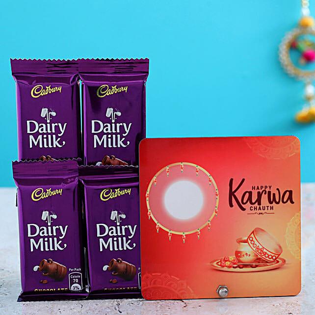 Table Top & 4 Dairy Milk Chocolates Combo
