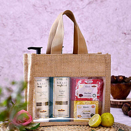 Order Khadi Flower Goodness Kit:Send Cosmetics & Spa Hampers