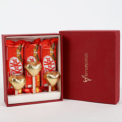 Kit-Kat & Handmade Chocolate in FNP Gift Box:Order Chocolates