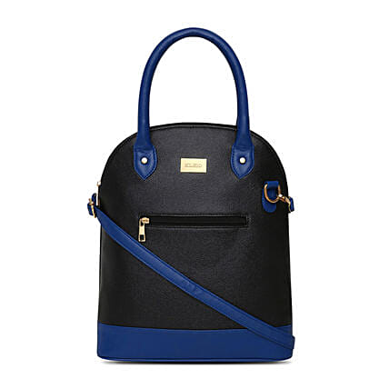 Online KLEIO Ladies Designer Fashion Handbag Satchel Shoulder Bag Purse for Women Girls   (Black,Royal Blue) (HO9001KL-BLRB):Buy Purse