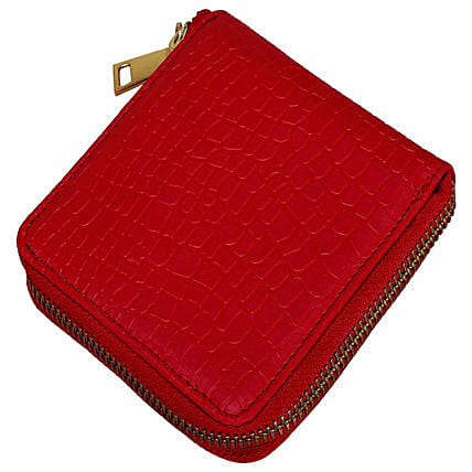 red zip clutch online