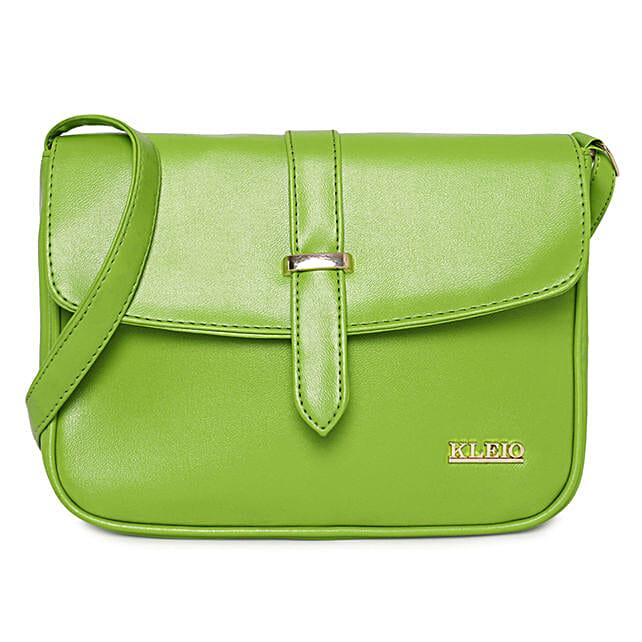 Online KLEIO Stylish PU Sling Bag for Women / Girls (Green) (HO8016KL-GR)