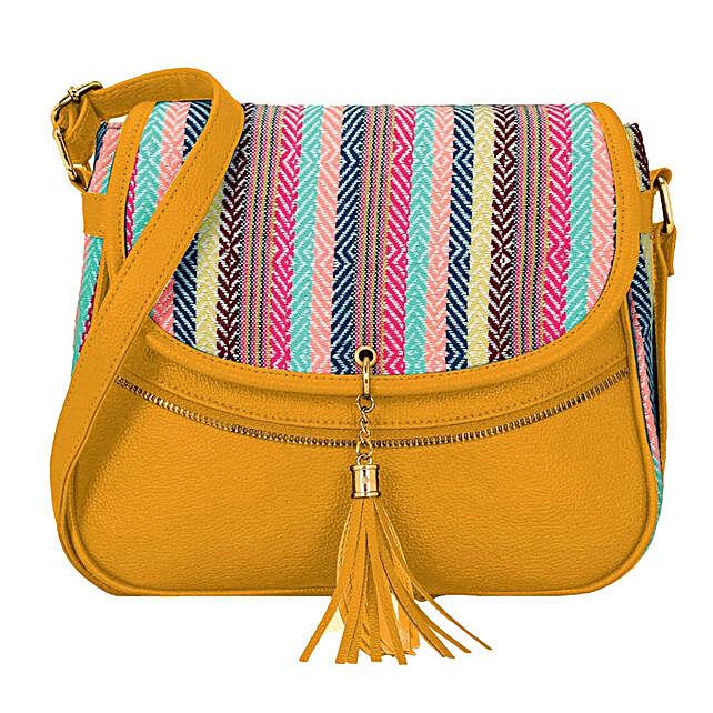 Online KLEIO Stylish Jacquard PU Leather Side Cross Body Sling Handbag Purse For Women Girls Ladies
