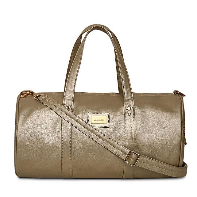 Online KLEIO Unisex PU Leather Mediun Size Travel Weekender Gym Duffle Bag for Men Women Girls