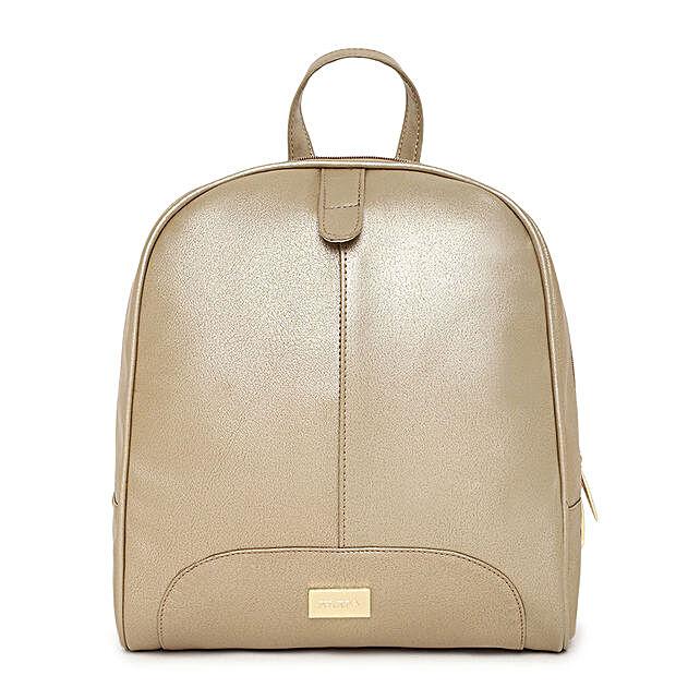 elegant gold pu backpack online