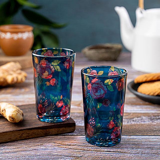 Kolorobia Misty Morning Rose Chai Glass Set