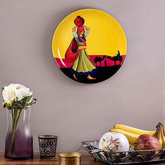Kolorobia Rajasthani Nomad Girl Wall plate