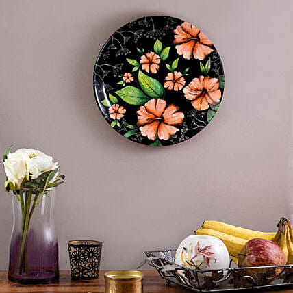 Kolorobia Tropical Hibiscus Home Decor Wall plate:Unique Gift Ideas