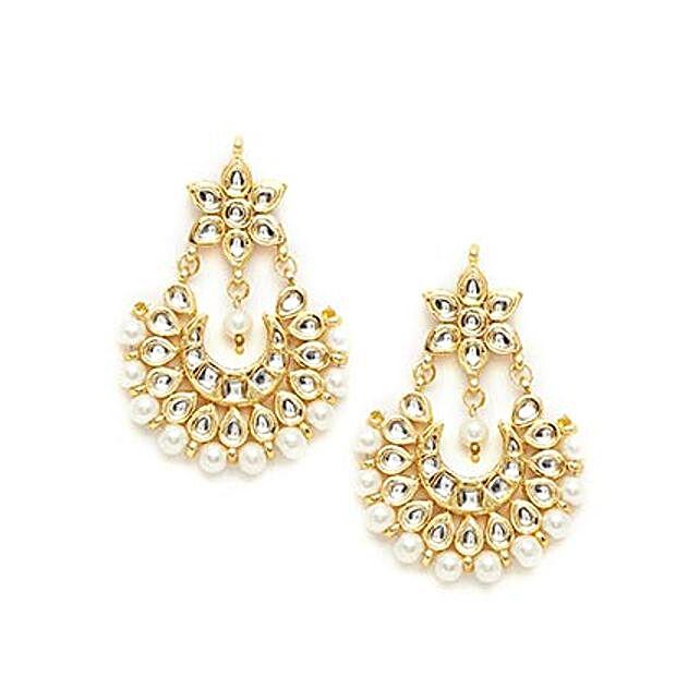 kundan earrings for her
