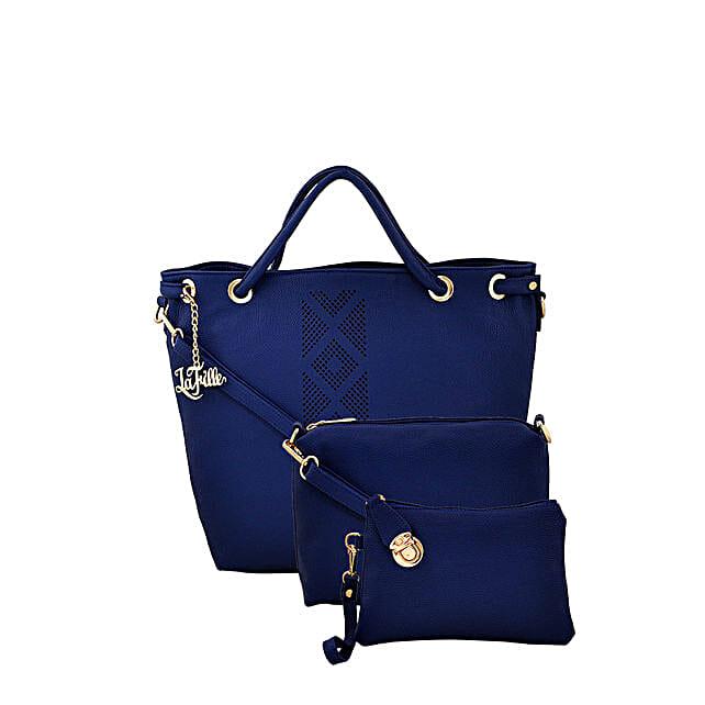 3 set of stylish blue handbag online:Handbags and Wallets Gifts