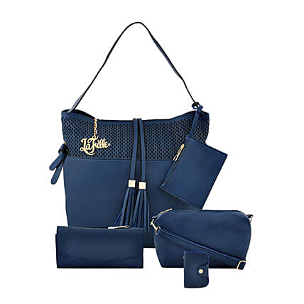 Online Blue Stunning Hand Bag Set