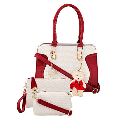 3 set of stylish multicolour handbag