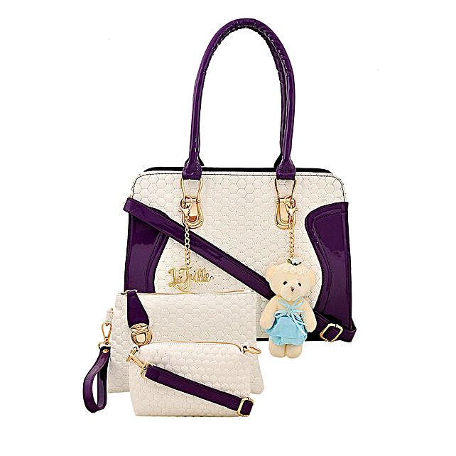 3 set of stylish purple handbag