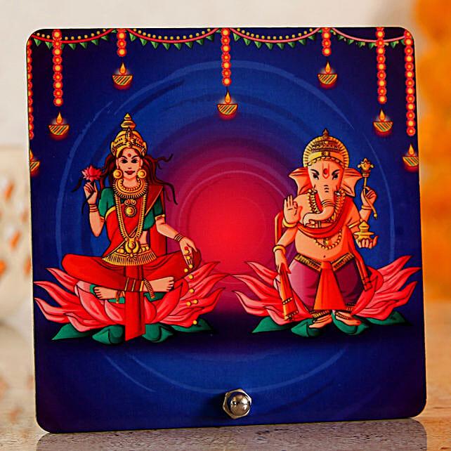 diwali god printed table top