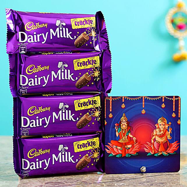 Lakshmi Ganesha Table Top And Dairy Milk Crackle