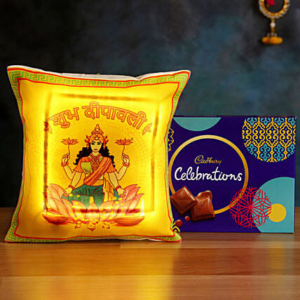 Buy LED Cushion with Cadbury