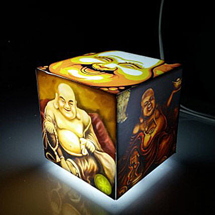 Laughing Buddha Cube Table Lamp