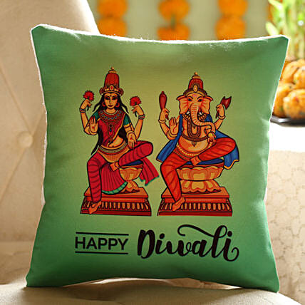Diwali god printed cushion online