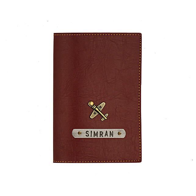 Brown Passport Cover