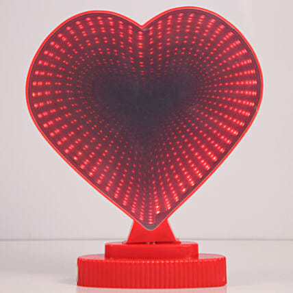 LED 3d Lights Red Heart:Lighting Accessories