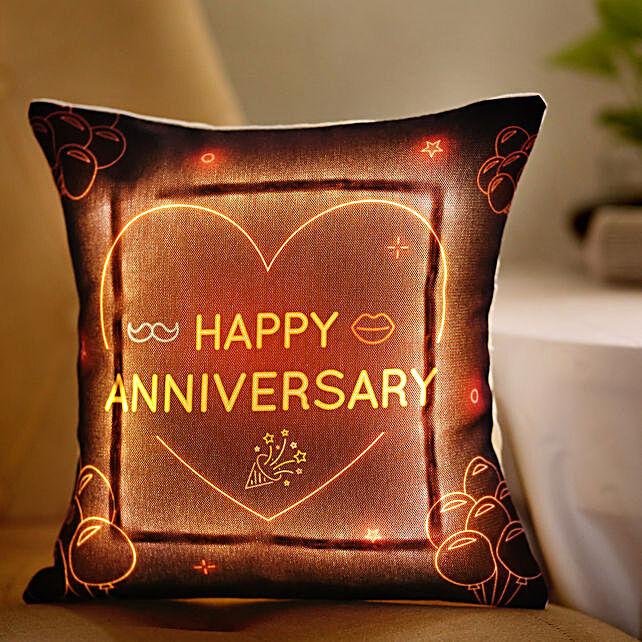 Online Anniversary LED Cushion