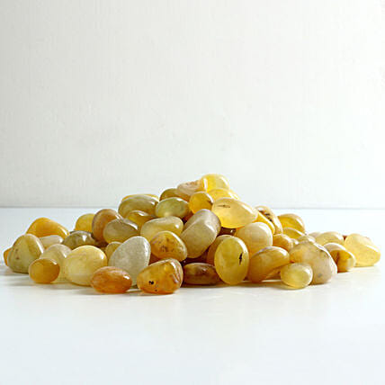 lemon stone pebbles for décor:Gardening Pebbles