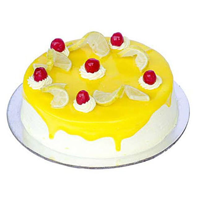 Lemon Vanilla Cake Half kg:Cakes For Baby Shower